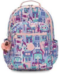 Kipling - Seoul Luggage Robot Camo Pink - Lyst