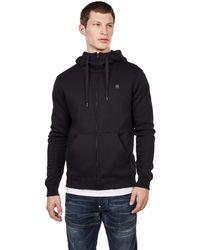 G-Star RAW S Premium Core Hooded Zip Cardigan Sweater - Blau