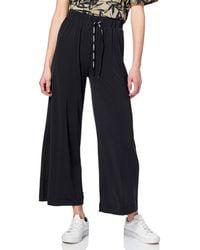 Desigual Fluid Pant Black Pantalones Informales - Negro