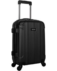 Kenneth Cole Reaction Out Of Bounds 20-inch Carry-on Lightweight Durable Hardshell 4-wheel Spinner Cabin Size Luggage - Black