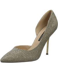 Dorothy Perkins Gold Dessie Pin Heel Court Shoes Platform - Metallic