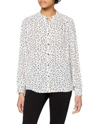 Dorothy Perkins Ivory Heart Print Collarless Roll Sleeve Top Blouse - White