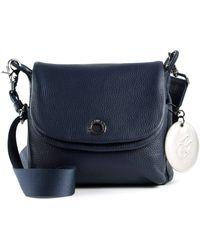 Mandarina Duck - Mellow Leather Crossover Bag Dress Blue - Lyst