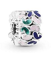PANDORA Argent Charms et perles 797863ENMX - Multicolore