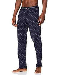 Tommy Hilfiger Jersey Print Pant Pantalones térmicos para Hombre - Azul