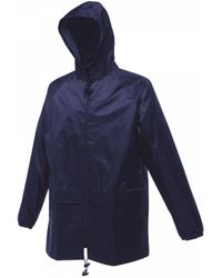 Regatta Adults Stormbreak Waterproof Jacket Rain Coat S S Ladies W408 - Blue