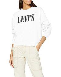 Levi's Graphic Diana Crew Sudadera para Mujer - Blanco