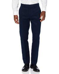 FIND Pantalón de Traje Ajustado de Algodón - Azul