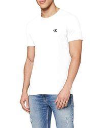 Tommy Hilfiger CK Essential Slim Tee Maglietta Uomo - Bianco