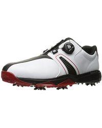 lyst adidas powerband boa impulso scarpe da golf in bianco per gli uomini.