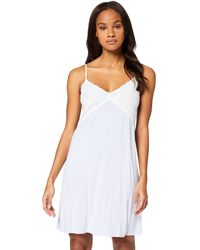 Iris & Lilly Amazon Brand - Women's Negligee, Blue (stripe), L, Label:l - White
