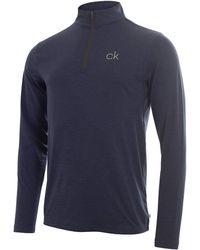 Calvin Klein Golf Newport Half Zip - Blue