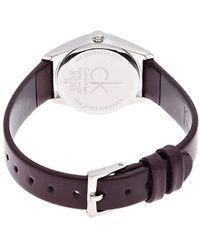 Calvin Klein Montre Bracelet à Quartz analogique pour en Cuir k4d231g6 - Multicolore