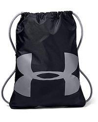 Under Armour Erwachsene Ozsee Sackpack strapazierfähiger und robuster Turnbeutel, vielseitige Sporttasche mit viel Platz - Schwarz