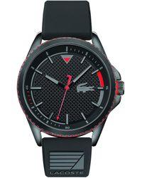 Lacoste Analogue Quartz Watch With Rubber Strap 2011029 - Black