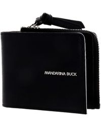 Mandarina Duck - Essential CC Holder with Coin Pouch Black - Lyst