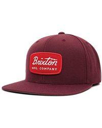 9c9beab5822 Brixton - Jolt Medium Profile Adjustable Snapback Hat - Lyst
