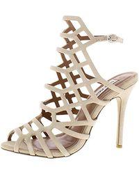 99dcdc9a43c Steve Madden Slithur Caged Dress Sandals in White - Lyst