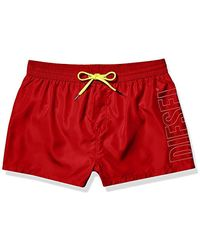 DIESEL Bmbx-sandy Swim Shorts - Red