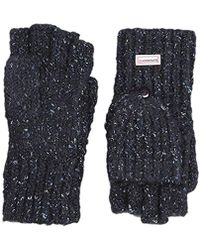Superdry Clarrie Cable Mittens Gloves - Blue