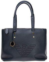 Emporio Armani - Accessoires Borsa Shopping Zen Blue FW 19-20 - Lyst
