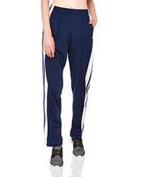 Blue Adibreak 3 stripe Navy Taping Popper Track Pants Womens Uk 6