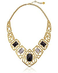 Trina Turk - Cubist House Gold Caged Drama Collar Necklace - Lyst