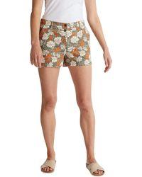 Esprit Shorts mit Blumen-Print - Mehrfarbig