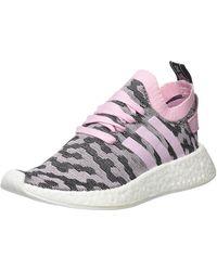 adidas Baskets NMD_R2 Primeknit - Rose