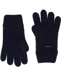 GANT D1. Knitted Wool Gloves Guanti - Blu
