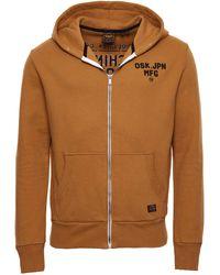 Superdry - Sweat à Capuche zippé Modern Workwear Marron Buckthorn L - Lyst