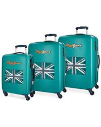 Pepe Jeans Bristol Luggage Set, 77 Centimeters - Green