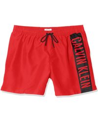 Calvin Klein Medium Drawstring Pantaloncini - Rosso