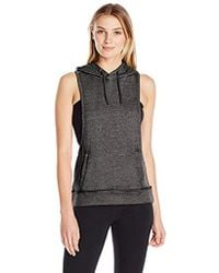 Steve Madden Dropped Armhole Hoodie With Back Cutouts - Black