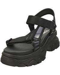 Tommy Hilfiger Iridescent Hybrid Womens Platform Sandals In Black - 6 Uk