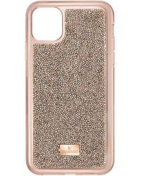 Swarovski Glam Rock Coque de protection rigide pour iPhone 11 Pro Max Doré rose - Multicolore