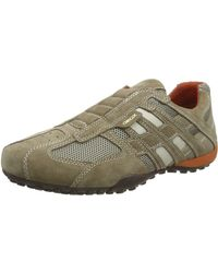 Geox Uomo Snake Low Top Sneakers - Natural
