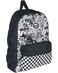 Vans MARVEL WOMAN Backpack Real Black Schoolbag VN0A3QXCBLK MARVEL Bags - Multicolore