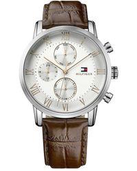 Tommy Hilfiger Reloj Multiesfera para Hombre de Cuarzo con Correa en Cuero 1791400 - Multicolor