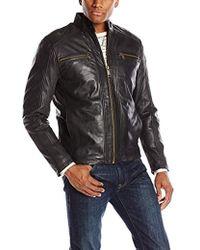 Andrew Marc - Laser Leather Moto Jacket - Lyst