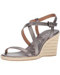 Calvin Klein Bellemine Espadrille Wedge Sandal - Multicolor