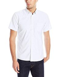 Izod - Uniform Young Short Sleeve Oxford Shirt - Lyst