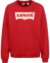 Levi's ® Relaxed Graphic Crew W Sweater Brilliant Red - Rosso