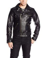 Nudie Jeans Ziggy Punk Leather Jacket - Black