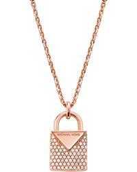 Michael Kors Ladies' Pendant Necklace Kors Colour Mkc1040an791 - Brown