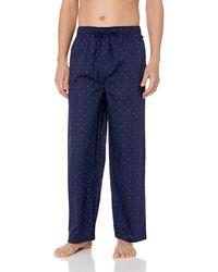 Tommy Hilfiger Poplin Woven Drawstring Pajama Pant - Blue