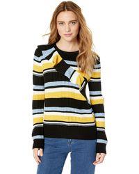 Parker Montego Long Sleeve Striped Sweater - Multicolor