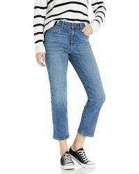 Goodthreads Mid-Rise Crop Straight Jeans - Azul