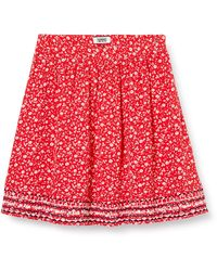 Tommy Hilfiger Tjw Embroidery Detail Skirt Gonna - Rosso