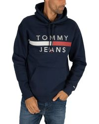Tommy Hilfiger Reflective Flag Hoodie - Blue